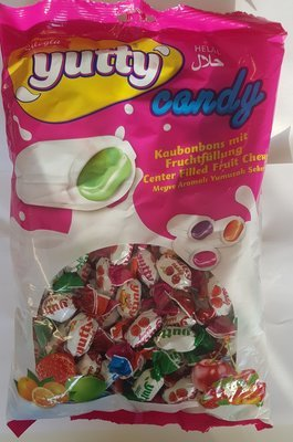 YUTTY CANDY FRUIT SNOEP 16X400 GR