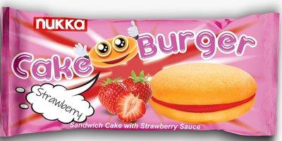 NUKKA CAKE BURGER AARDBEI 5 ST 24X125 GR