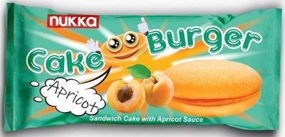 NUKKA CAKE BURGER MET ABRIKOZEN 24X125 GR