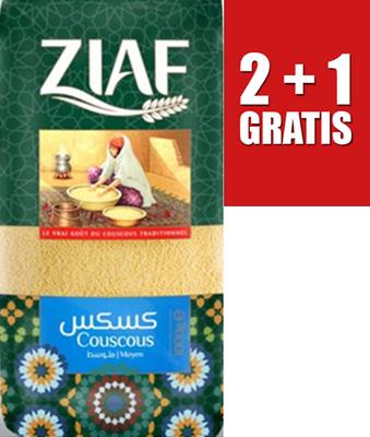 ZIAF COUSCOUS MOYEN 12X1 KG 2+1 GRATIS