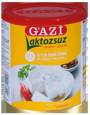 GAZI LACTOSEVRIJ KAAS 55% 6X500 GR