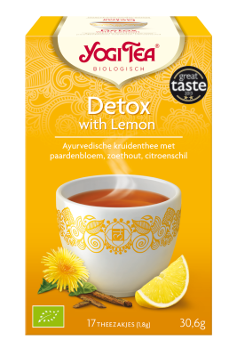 YOGI THEE DETOX WITH LEMON 6X17 STUKS