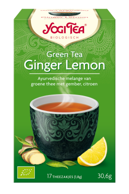 YOGI THEE GREEN TEA GINGER LEMON 6X17 STUKS