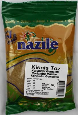 NAZILE KORIANDER GEMALEN 15X70 GR