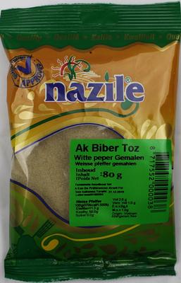NAZILE WITTE PEPER GEMALEN 15X80 GR