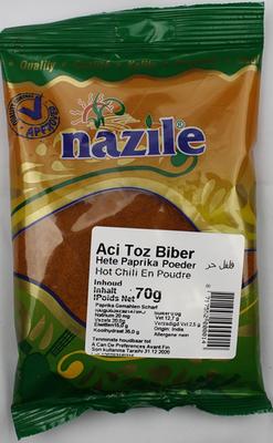 NAZILE CHILI POEDER 15X80 GR ZAK