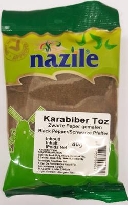 NAZILE ZWARTE PEPER GEMALEN 15X80 GR