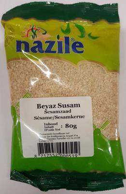 NAZILE WITTE SESAMZAADJES 15X80 GR