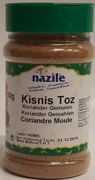 NAZILE KORIANDER GEMALEN 10X120 GR PET
