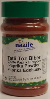 NAZILE PAPRIKA POEDER ZOET 10X180 GR PET