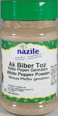 NAZILE WITTE PEPER GEMALEN 10X170 GR