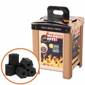 QUICK FIRE BBQ BRIKETTEN 6X2.2 KG