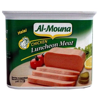 AL MOUNA CHICKEN LUNCHEON 24X340 GR