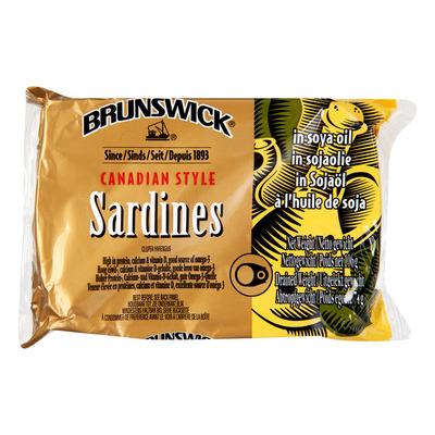 BRUNSWICK SARDINES IN SOJA OLIE 12X106 GR