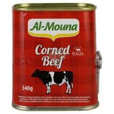 AL MOUNA CORNED BEEF 24X340 GR