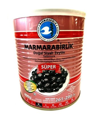 MARMARABIRLIK SUPER OLIJVEN (M) 6X400 GR