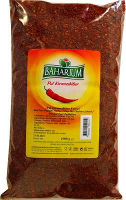 BAHARIUM %100 ANTEP RODE VLOKKEN PEPER 12X1 KG